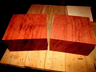 (Woodworking Lumber) ONE KILN Dried Exotic BUBINGA Bowl Blanks Lathe Turning Block Lumber 6 X 6 X 3
