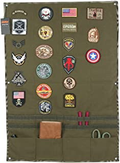EXCELLENT ELITE SPANKER Patchs Display Board Foldable Military Patch Holder Panel with molle and 4 Pocket