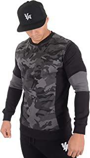 3-Panel Fitted Crewneck Longsleeve Pullover Sweater for Men 520