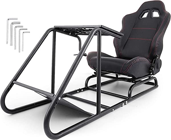Mophorn Racing Simulator Cockpit Driving Gaming Seat Gear Shift Mount PS3 4 Xbox Logitech G29 G920 PC Foldable Racing Chair Racing Wheel Stand Driving Gaming Chair