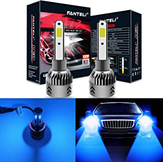 FANTELI H1 10000K-12000K Deep Blue LED Headlight Bulbs All-in-One Conversion Kit - 72W 8000LM High Beam/Low Beam/Fog Lights Extremely Bright