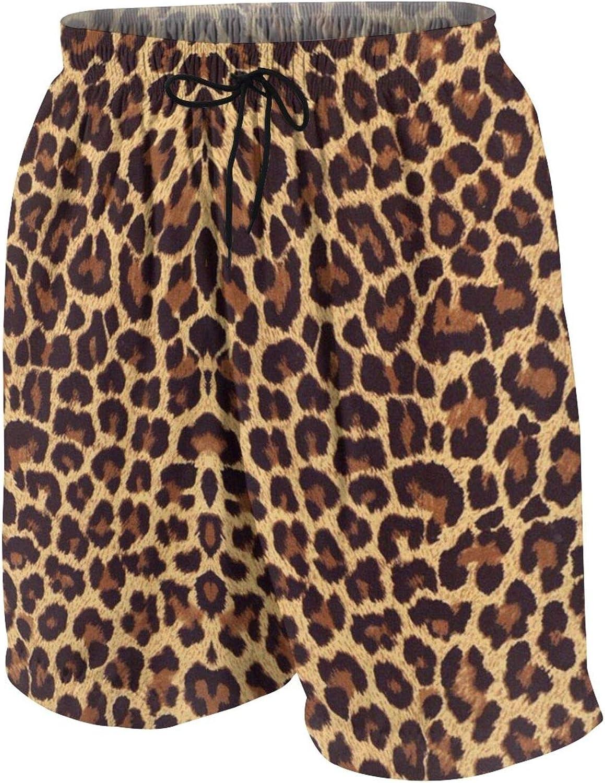 Youth Quick Dry Cool Cheetah Leopard Print Beach Board Shorts Kids Swim Trunk Swimsuit Beach Shorts Swim Trunk for Boys