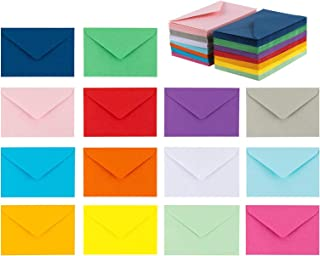 """140 Mini Envelopes 14 Assorted Colors, Gift Card, Business Card Envelopes 4""""x 2.7"""""""