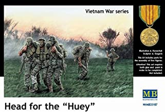 Master Box Head for The Huey! US Soldiers Vietnam (5) Figure Model Building Kits (1:35 Scale)