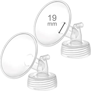 2 x 19 mm Maymom Wide Neck Pump Parts for Spectra S1/S2 Pumps; Incl Wide Mouth Flanges; Not Original Spectra Flange; Repla...