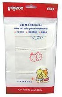 PIGEON 贝亲 超柔纱布手巾(3片入) LA27