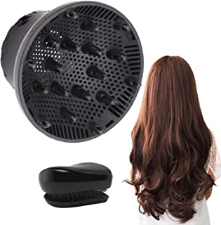 Hair Diffuser, Universal Hair Diffuser Attachment, Hair Dryer Diffuser Suitable for 1.4-inch to 2.6-inch Blow Dry, Profess...