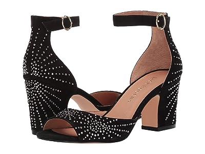Jack Rogers Maxine Embellished Suede Heel (Black) Women