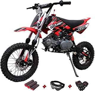X-Pro 125cc Dirt Bike Pit Bike Gas Dirt Bikes Adult Dirt Pitbike 125cc Gas Dirt Pit Bike with Gloves, Goggle and Handgrip