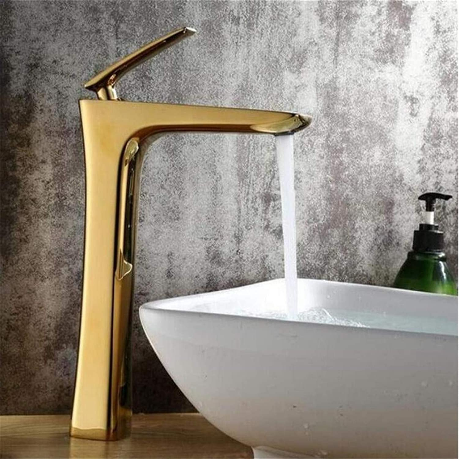 High Quality Kitchen Brass Stainless Steelbathroom Single Handle Hot and Cold Water Mix Taps Bathroom Washbasin Tap