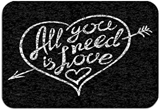 Entrada al Piso Lavable Alfombra Interior al Aire Libre Alfombrilla Tela no Tejida 24 x 16 Vintage Todo lo Que Necesitas Amor Letras escritas a Mano a