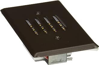 Elco Lighting ELST75BZ 12V LED Mini Step Light with Louvered Faceplate