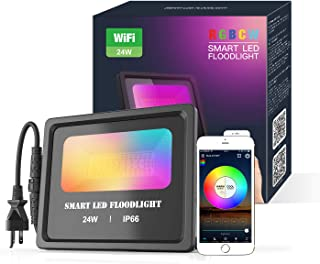 Zombber RGBCW2700K-6500K IP66 - Lámpara de pared impermeable para fiestas, jardín, paisaje con enchufe Alexa US