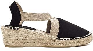 e9f5994f Zapatos miMaO. Zapatos Piel Mujer Hechos EN ESPAÑA. Cuña Esparto Tiras  Elásticas. Sandalia