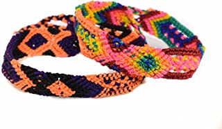 Halloween Mexican Bohemian Friendship Bracelet Colorful and Handmade for Women 2 PCS