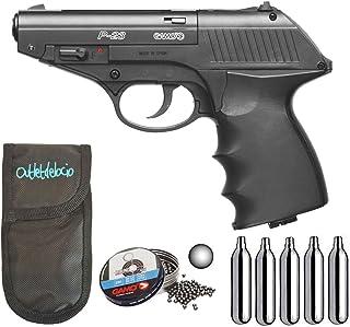 Pack Pistola perdigon Gamo P-23 Combat 4,5mm. + Funda Portabombonas +