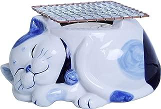 テーケー名古屋人形製陶 陶製電気コンロ ネコ 瑠璃猫 TKN-2354R