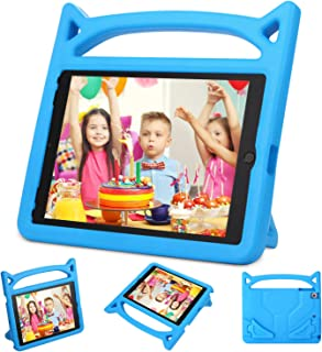 Dinines Kids Case for iPad 9.7 2018 2017 / iPad Air 2 / iPad Air Case Lightweight Shockproof Handle Stand Cover Case for iPad 9.7 iPad 5th / 6th Generation,iPad Air 1/2,Blue