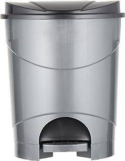 Cosmoplast Plastic Pedal Trash Waste Bin, Pearl Grey, 15 Liters, IFHHXX313PG