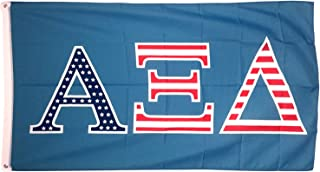 Alpha Xi Delta USA Letter Sorority Flag Greek Letter Use as a Banner Large 3 x 5 Feet Sign Decor Alpha zee