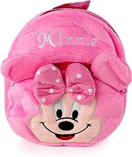 BERRY Plush Backpack Minnie Mouse Minions Winnie the Pooh Batman Hello Kitty (Minnie Pink)