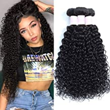 Brazilian Kinky Curly Hair 3 Bundles 10 12 14 Brazilian Virgin Curly Hair Weave Unprocessed Remy Human Hair Weave Natural Black Color