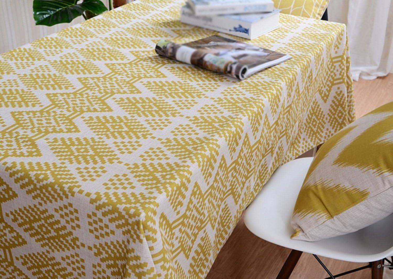 JCRNJSB Tischdecke, Full Größe Elegantes Stil Thickness Leinen Esstisch Abdeckung Tuch Waschbar und pflegeleicht ( Farbe    3 , gre   200145cm )