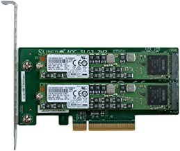 Supermicro AOC-SLG3-2M2 PCIe NVMe Dual M.2 x8 Gen 3 Adapter Card with 960GB (2x480GB) Samsung PM953 Enterprise SSD
