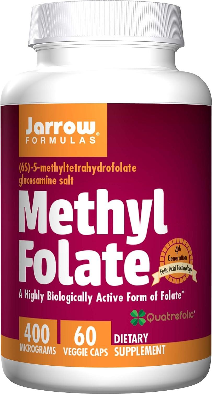 Jarrow At the price Formulas Methyl Tampa Mall Folate 400 mcg Highly - Veggie Caps 60