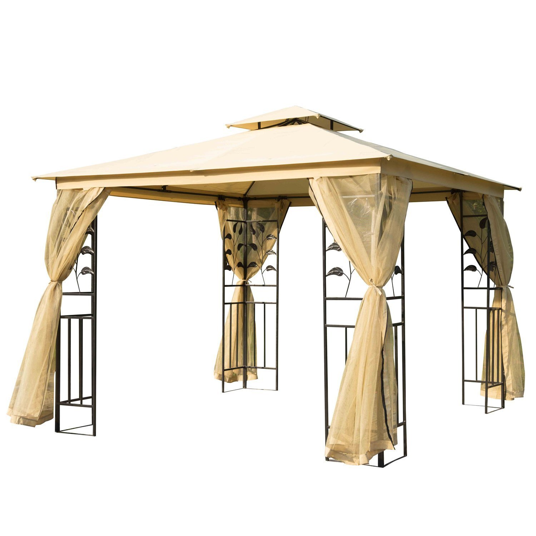 Homcom Outsunny® - Lujoso cenador para jardín, fiesta, 3 x 3 m: Amazon.es: Jardín