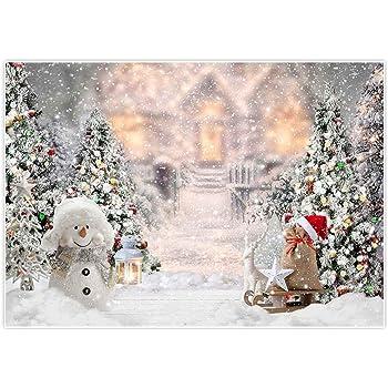 KateHome PHOTOSTUDIOS Fotografia di Natale Sfondo 2,2/×1,5 m Retro parete di legno sfondo Glitter Light per Photo Studio Fondali Natale