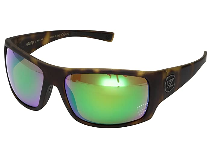VonZipper Suplex Polarized (Tortoise Satin/Wild Green Chrome Polar Plus) Fashion Sunglasses