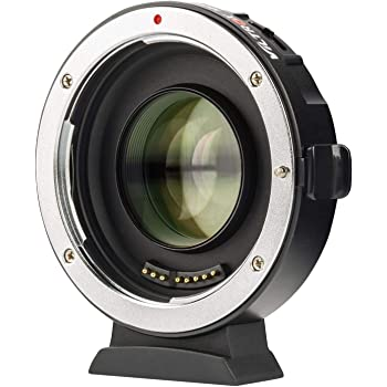 Lens Adapter EF-M2II Auto-Focus 0.71x Speed-Booster MFT Converter for Canon EF Lenses to M4/3 Cameras GH4 GH5 GF6 GF1 GX1 GX7 GX85 E-M5 E-M10 E-M10II E-PL5 Pen-F