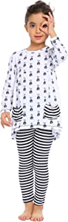 Arshiner Little Girls Clothing Sets Bunny Printed Long Sleeve Outfits 2 PCS Top Leggings
