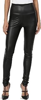 Faux Leather Zip Ankle Skinny Pants Biker Liquid Wet Shiny Look Trouser