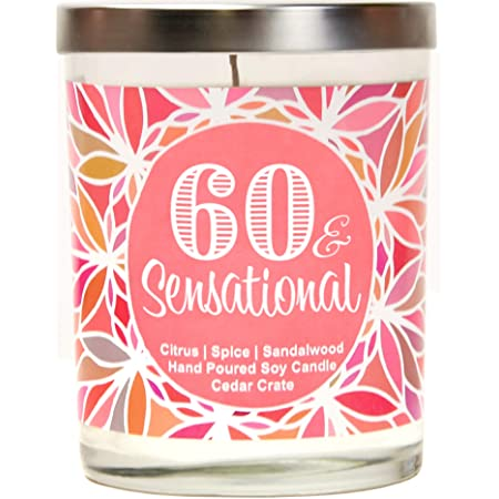 60th birthday party present candle gift Mum sister best friend special keepsake