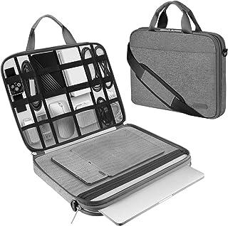 Arvok Funda para portátil de Estuche para Accesorios con Correa y asa, maletín para Ordenador portátil Maletín para Acer/ASUS/DELL/Lenovo/HP (15.6-Pulgadas, Gris)
