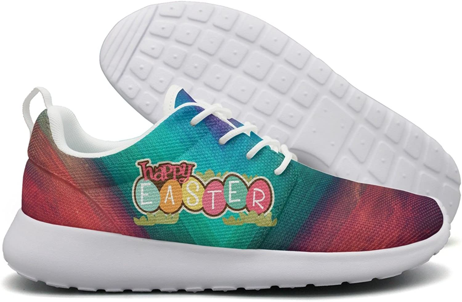 Happy Easter Day 2018 Womens Flex Mesh Lightweight shoes Women