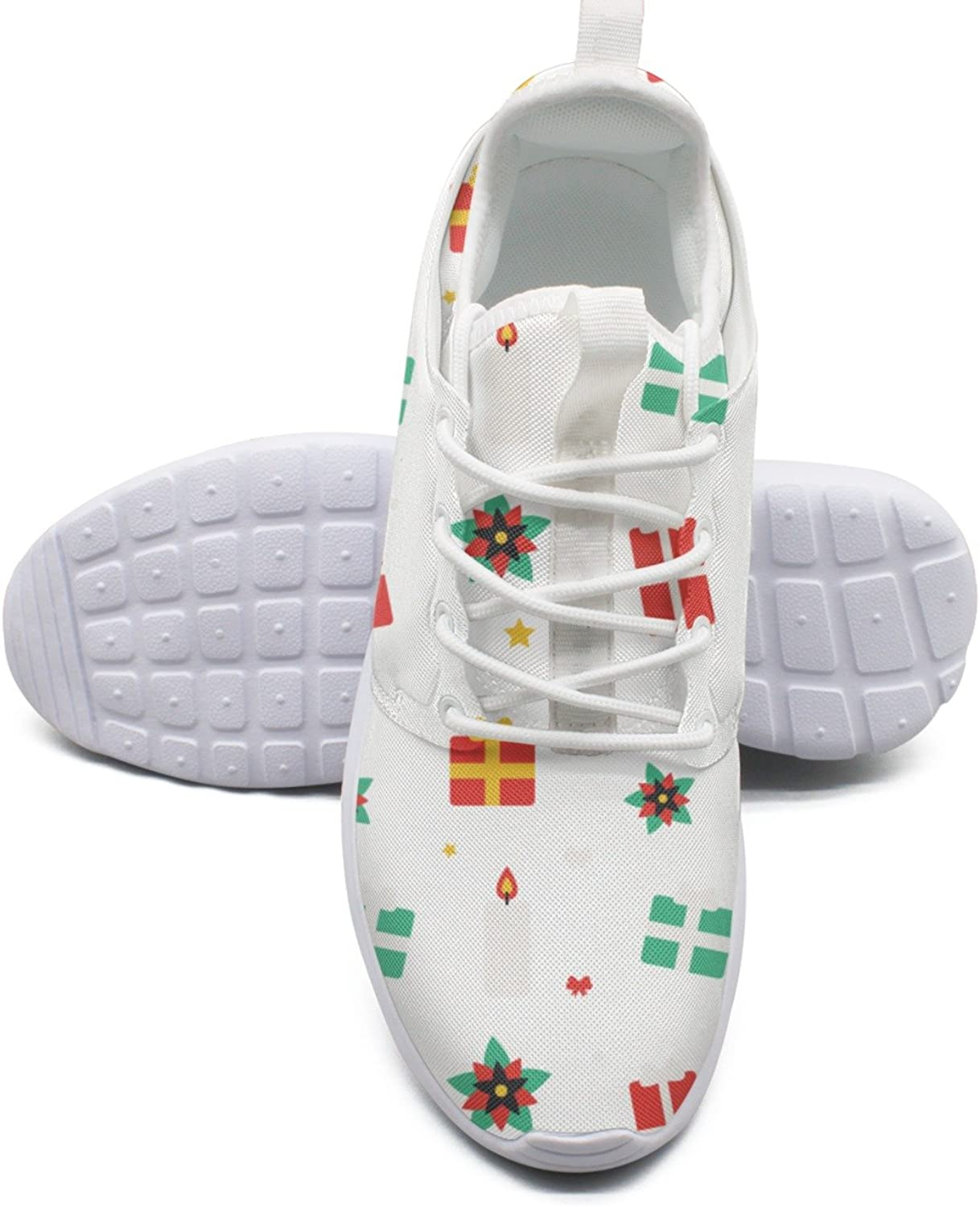 Women's Fashion Lightweight Sneakers shoes Christmas Pattern-01 Print Boat shoes