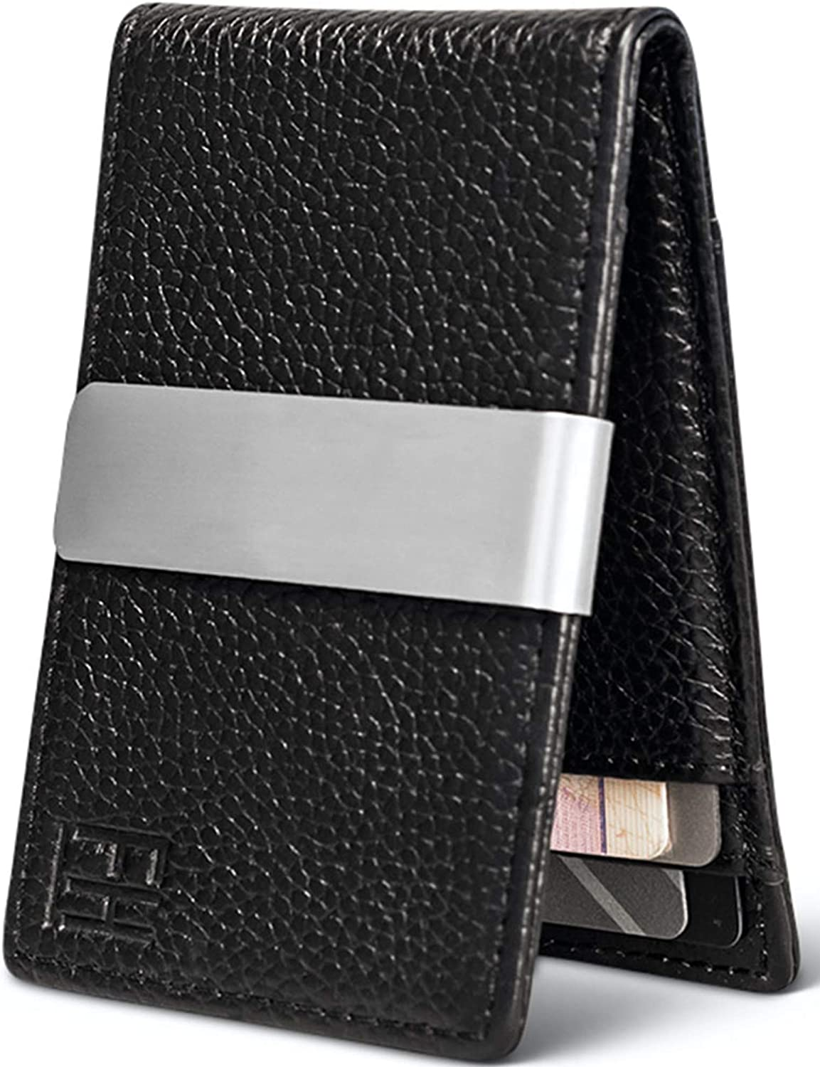 Max 56% OFF FH Minimalist Slim Leather Wallet 8 Outstanding Holds Money Cards Clip