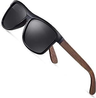 wearpro sunglasses men's polarized walnut wood men women sunglasses UV400 fashion for travelling with polarised lenses W1003