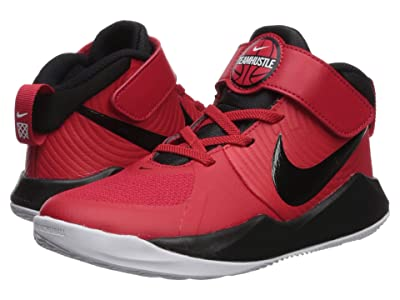 Nike Kids Team Hustle D 9 (Little Kid) (University Red/Black/White) Kids Shoes