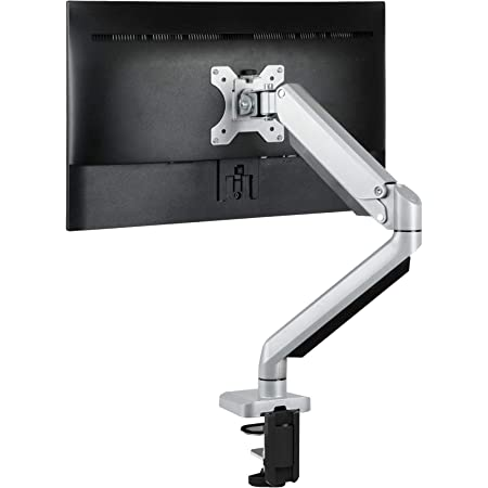 """ErGear Professionale Supporti Monitor per Schermo 13""""-32"""" Braccio Monitor con Molla a Gas Movimento Completo Regolabile in Altezza Scrivania Inclinazione ±45° Girevole 180° Rotazione 360° Peso 8 kg"""