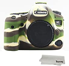 TUYUNG Silicone Camera Case Bag Protective Cover Skin for Canon EOS 6D Mark II Digital Camera - Army Green