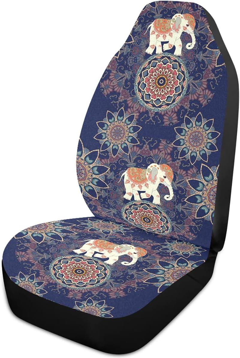Oarencol Mandala Elephant Flower Car Vintage Boho Max Max 69% OFF 66% OFF Seat An Covers