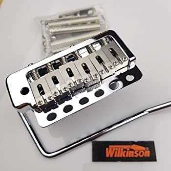 Gold Zinc Block Replacement Part for Fender Strat ST Style Electric Guitar Wilkinson WV6 Tremolo System Bridge Stainless Steel Saddles