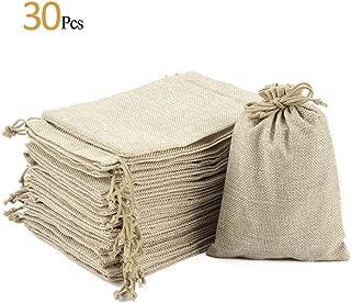 ANPHSIN 30 Pack Burlap Bag with Drawstring - 7.1