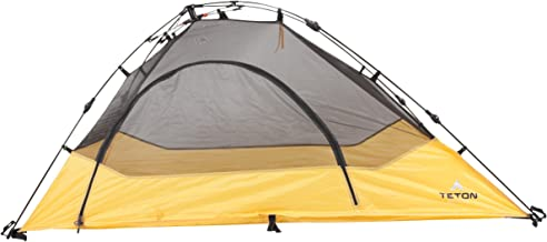 TETON Sports Outfitter Quick Tent; One-Person Pop-Up Tent; Instant Setup – Less Than 1 Min; Camping and Backpacking Tent; Easy Clip-On Rainfly Included (Renewed)