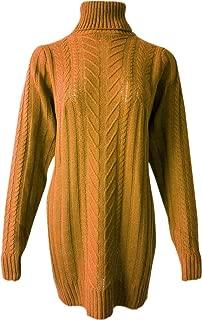 ellazhu Damen Sommerkleid Rundhals druckdessiniert Oversized Shirtkleider GA1451