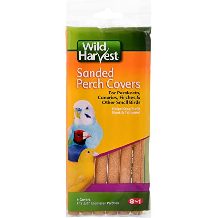 Wild Harvest P-84141 Sanded Perch Covers for Small Birds, 6-Count